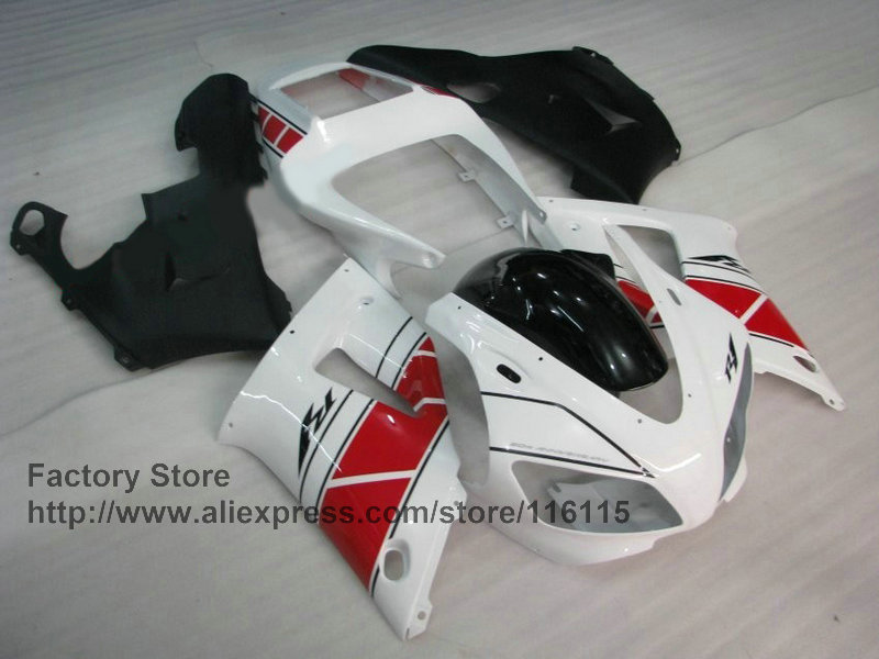 motorcycle injection mold ABS fairings kit for YAMAHA 1998 1999 98 99 YZF R1 white red repair fairing set