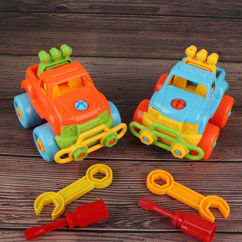 1 Set Nieuwe Collectie Creative Auto Speelgoed Wielen Kinderen Speelgoed Diy Schroef Moer Montage Kinderen Vroege Educatief Speelgoed Gift Willekeurige Kleur