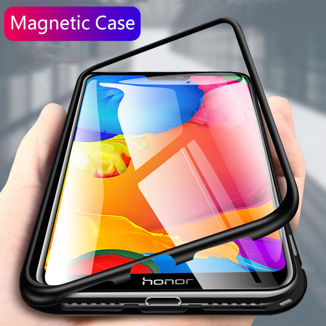 more photos 45ded 656b8 US $4.74 5% OFF|chyi magnetic flip case for huawei honor 9n 9i case  transparent tempered glass back cover shockproof protective coque-in Fitted  Cases ...