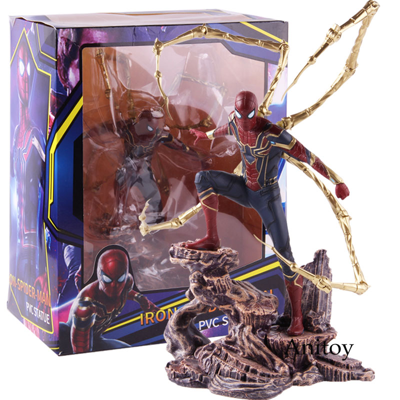 Marvel Avengers Infinity War Iron Spiderman Statue PVC Spider Man Spider Man Action Figure Collectible Model Toy