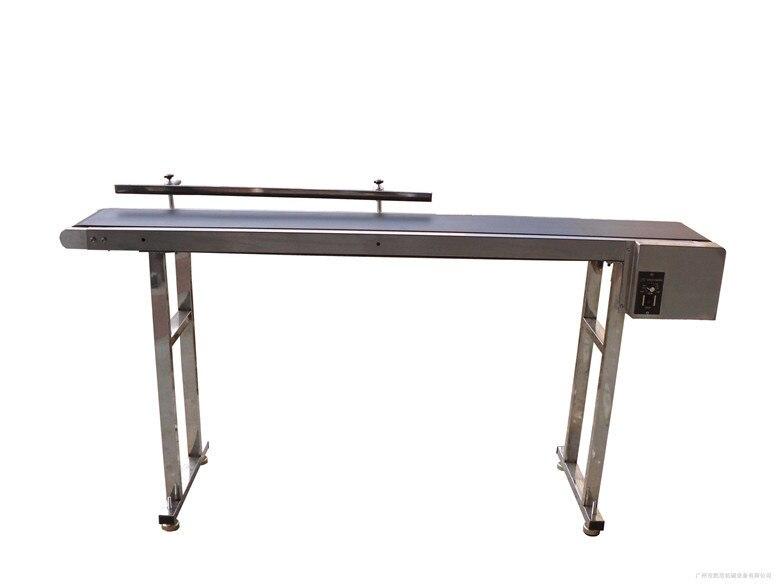 Personnalisé le Transporteur à Bande Convoyeur à bande pour Bouteilles/Alimentaire/Produits 1 m-2 m Personnalisée Courroie Mobile Tournant Table SYB-01