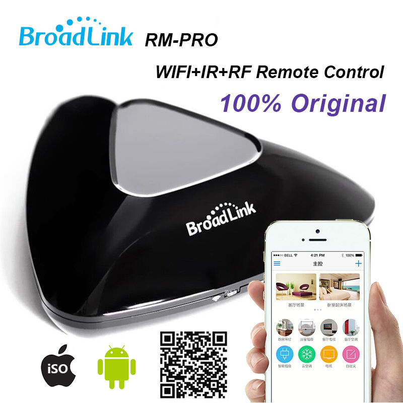 Broadlink RM-PRO,Smart Home Wireless Remote Control Switch, Support IOS/Android, Wifi IR/RF Intelligent Remote Control Switch new xiaolei wifi remote smart home automation wifi ir rf universal intelligent remote control for iphone ios android ltech