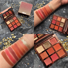 Professional Makeup Palette 9 Color Eyeshadow Shimmer Glitter Matte Pallete Pigmented Smoky NudeBrand Cosmetic