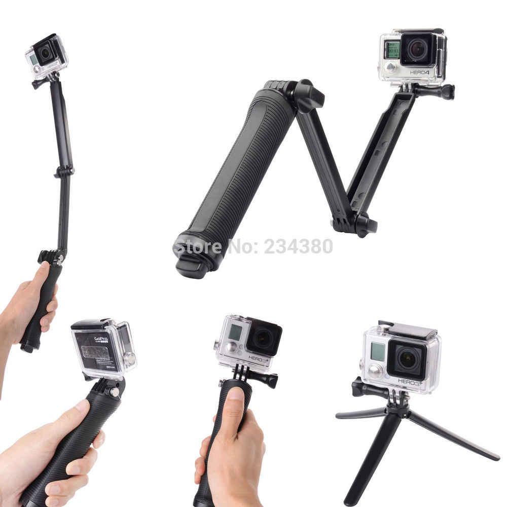 3-דרך חדרגל זרוע הר מתכוונן stand סוגר כף יד גריפ 3 דרך חצובות עבור GoPro גיבור 8 7 6 5 4/3 + SJ4000 SJ5000 Xiaomi יי