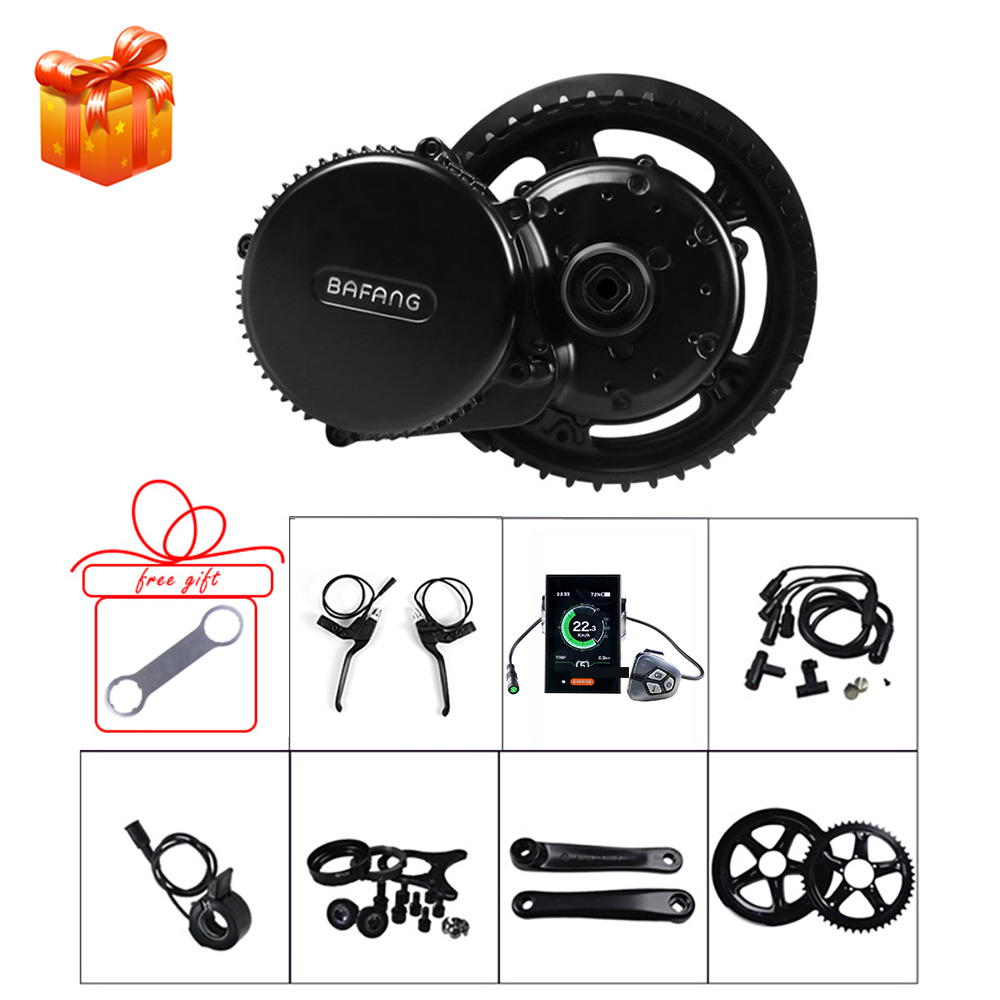 BAFANG Mid Motor Kits BBS01B 48V 350W E Bike Conversion Crank Drive Motor Kits With Display