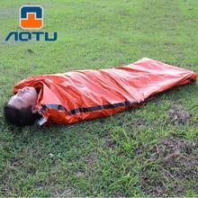 NEW 2019 Outdoor emergency first aid sleeping bags Radiation protection adiabatic lifesaving bag PE orange