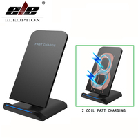 ELEOPTION Qi Wireless Phone Charger For Iphone X 8 8 Plus Fast Charger Qi Wireless Charging