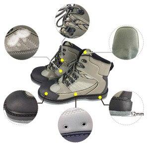 Image 4 - フライフィッシング靴釘 & パンツアクアは唯一上流スニーカー服セット岩スポーツワタリウェーダーブーツ狩猟無スリップ