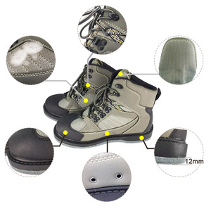 Image 4 - Fly Fishing Shoes With Nails & Pants Aqua Felt Sole Upstream Sneakers Clothing Set Rock Sport Wading Waders Boot Hunting No slip