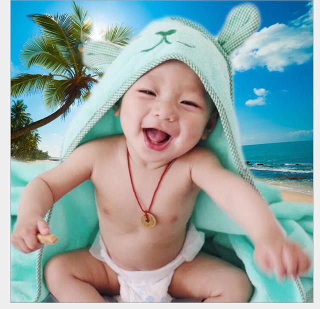 Bebé niño niña en forma de bebé albornoz con capucha suave bebé recién nacido Toalla de baño manta de secado Toalla de ducha de baño infantil Appease algodón