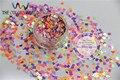 Qn30-83 Mix 3 MM tamaño Iridescent Rainbow colores Glitter Square Shapes paillette de uñas y la decoración de DIY 50 g/bolsa