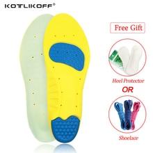 KOTLIKOFF PU Silicone Gel Sport inlegzolen Loopschoenen Massage Pijnbestrijding Ondersteunende Schoenen Inlegzolen Insert Pads Kussen Basketbal