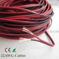 5 m LEVOU 2pin cabos 22AWG, cobre Vermelho e preto cabo de 22 AWG fio de extensão Para LED Tira, Tira de PVC fio isolado Eletrônica frete grátis