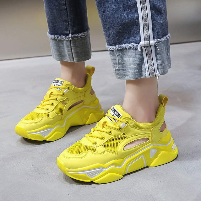 Comfortable Rubber Flat Shoes Women Sneakers Women Casual Shoes Flats Breathable Mesh Ladies Shoes Spring and Autumn Women Shoes