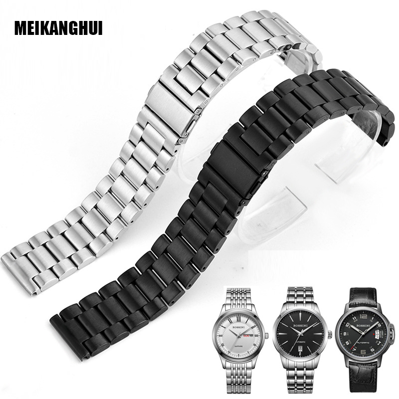High Quality Solid Stainless Steel Watch Band Adjustable Strap Metal Watch Strap Handmade Watchbands 18mm 20mm 22mm Mens Womens 22 24mm silicone pin buckle wristwatch band mens womens watch strap high quality jd0108