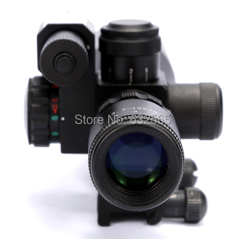 ФОТО Wholesale 2.5-10X40 Rifle Scope with Mil-Dot Reticle and side mounted green laser scope