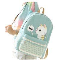 Creative Cartoon Style Animal Prints Women Casual Daypacks Harajuku School Bags For Teenager Girls Canvas Backpack