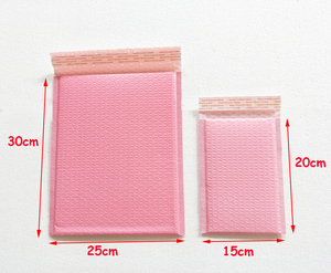 Image 2 - Free Shipping Light pink Poly bubble Mailer envelopes padded Mailing Bag Self Sealing 25*30+4cm 20pcs/lot