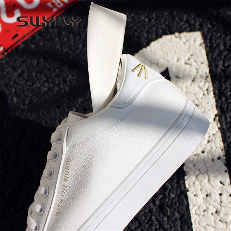 2bb7880b3d SWYIVY White Sneakers Shoes Woman Gold Cut Cat Back 2018 Spring Inside Wedge  Heel Female Casual Shoes Woman Sneakers White Hot-in Women s Vulcanize Shoes  ...
