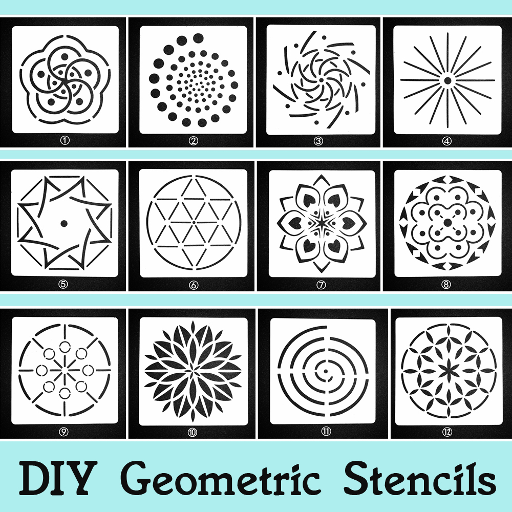 Diy Plastic Stencil Sheet For Painting Artistic Templates