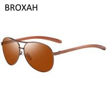Polarized Sunglasses Men Retro Pilot Sun Glasses for Driving Classic Night Vision Lunette De Soleil Homme