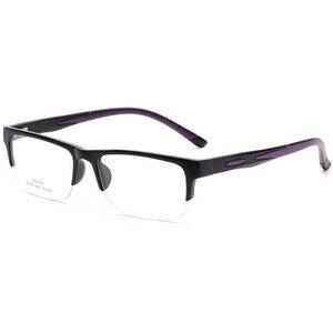 Image 3 - 男性女性眼鏡フレーム処方眼鏡TR90眼鏡フレームシリコーン光学ブランドメガネフレームハーフリムレスメガネ