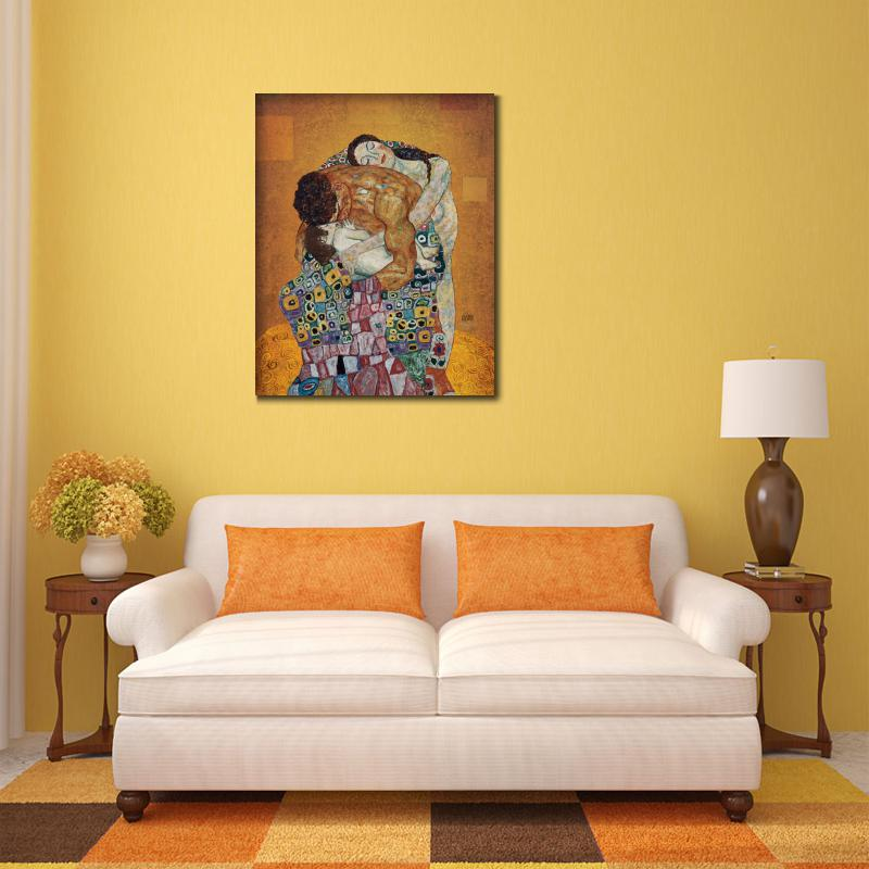 Bedroom Canvas Art Portrait Oil Painting The Family By Gustav Klimt  Paintings Reproduction High Quality Hand Painted In Painting U0026 Calligraphy  From Home ...