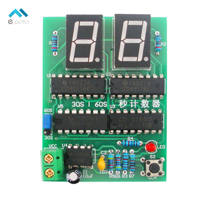 Parts List For The Discussed Digital Counter Circuit