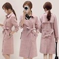 Gamuza de terciopelo chaqueta de la capa femenina 2017 la Primavera y el invierno nuevo Coreano Delgado de manga larga abrigo de gamuza