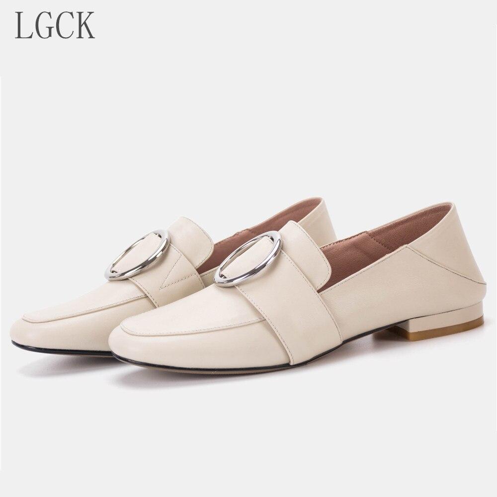 Grande taille 34-43 en cuir véritable femmes chaussures robe oxford chaussures de travail formel chaussures noires appartements sans lacet peu profonde enceinte Ballet