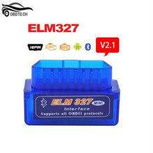 V2.1 мини ELM327 Bluetooth OBDII диагностическое сканирующее устройство автомобиля OBD2 Автомобильный сканер ELM 327 V 2,1 считыватель кода EOBD диагностический инструмент