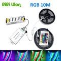 RIRI  Won 20M 15M 10M RGB 3528 LED strip light tape diode leds non waterproof  12A Metal IR Controller + 12V Power