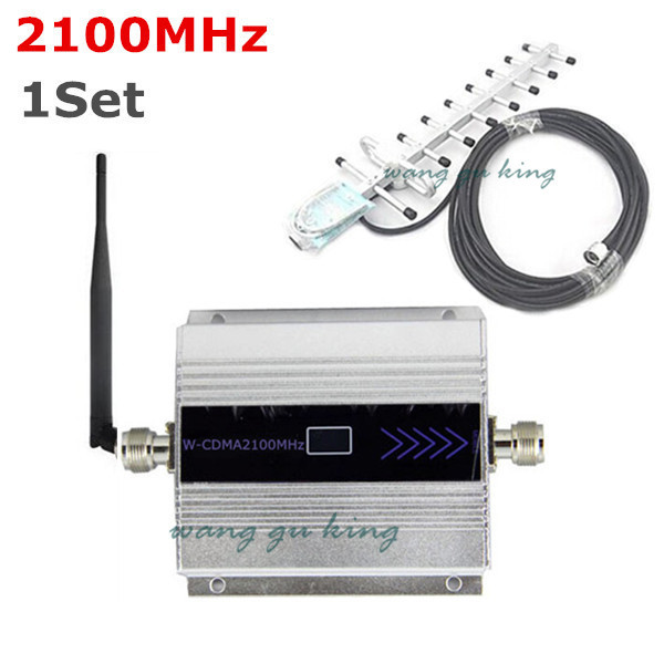 1Set LCD Family WCDMA UMTS 3G 2100 MHz 2100MHz Mobile Phone Signal Booster Repeater Cell Phone Amplifier 60db with Yagi Antenn1Set LCD Family WCDMA UMTS 3G 2100 MHz 2100MHz Mobile Phone Signal Booster Repeater Cell Phone Amplifier 60db with Yagi Antenn