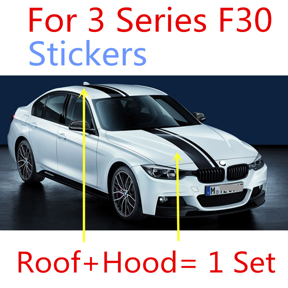Car full body sticker design - 2pcs Lastest Design M Performance Style Limited Edition Car Body Sticker Decal Suitable For Bmw F30
