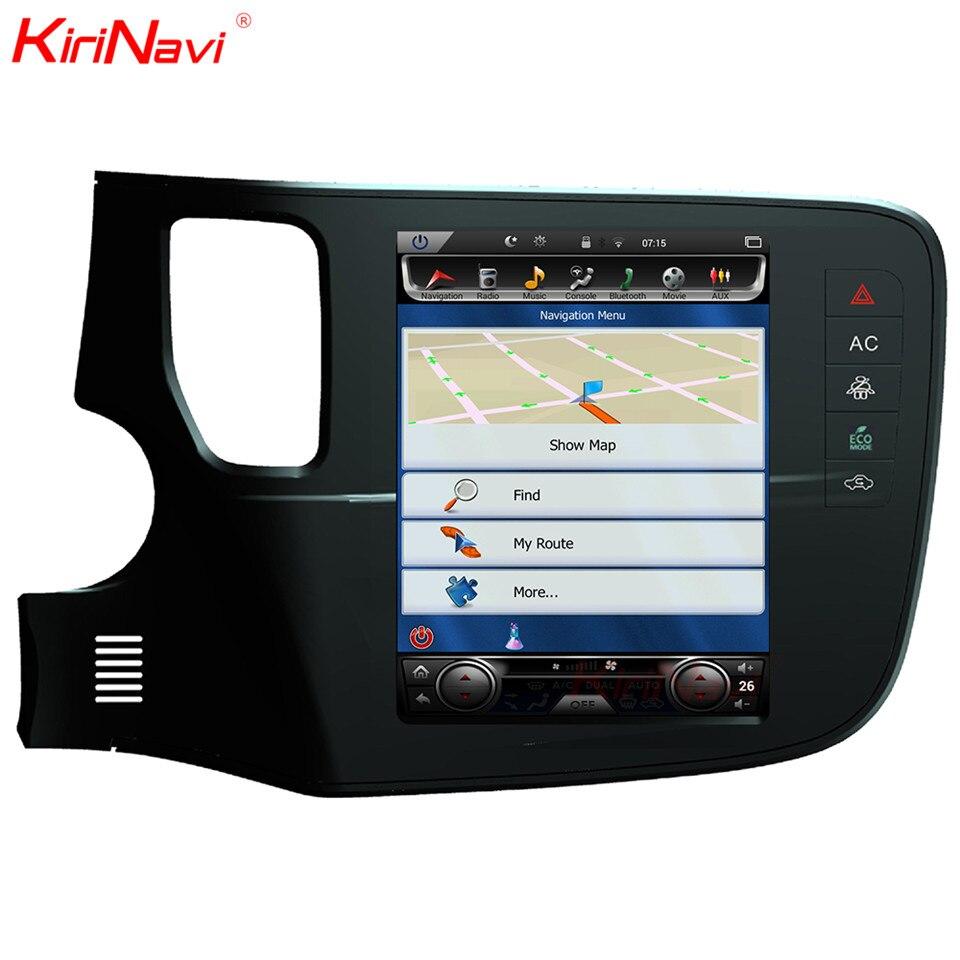 KiriNavi Vertical Écran Tesla Style Android 6.0 10.4 Lecteur Multimédia De Voiture Pour Mitsubishi Outlander Radio Navigation SystemsGPS