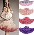 Colorido Tutu Petticoat Para Mulheres Barato Crinolina Underskirt Rockabilly Dança Petticoat Retro Vintage Fantasia de Tule Saia jupon