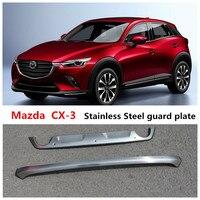 Para Mazda CX 3 2018 BUMPER Placa BUMPER GUARD Dianteiro + Traseiro Auto Acessórios de Aço Inoxidável de Alta Qualidade Amortecedores     -
