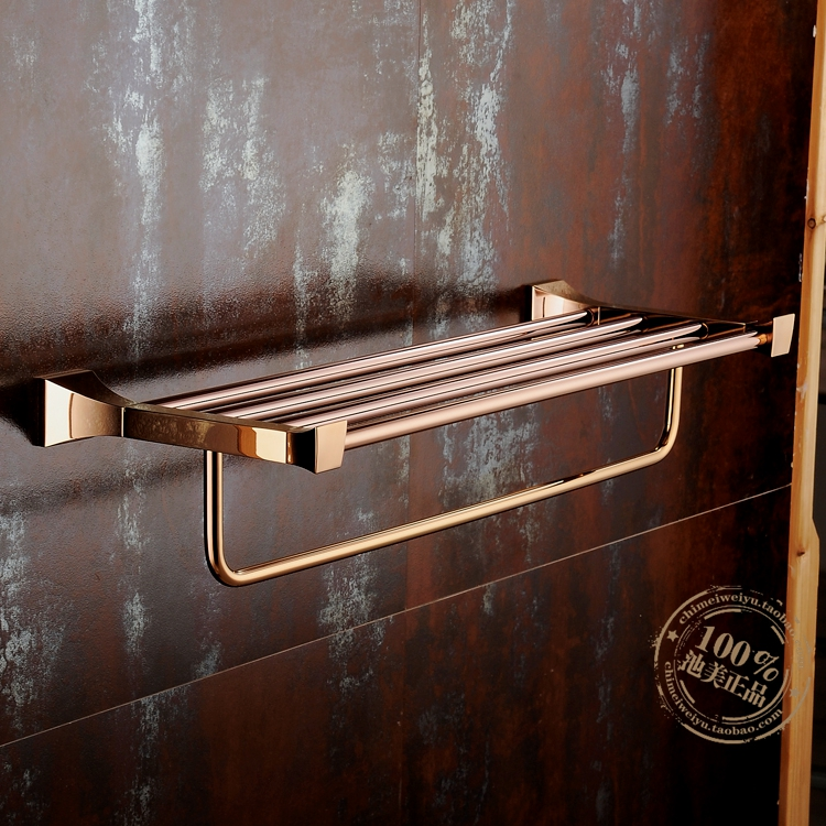 Bathroom Towel Rack Towel Bar Vintage European Copper Gold Towel Rack Rose Gold Bathroom Hardware Accessories YM091 continental gold product towel rack bar activities multi pole design