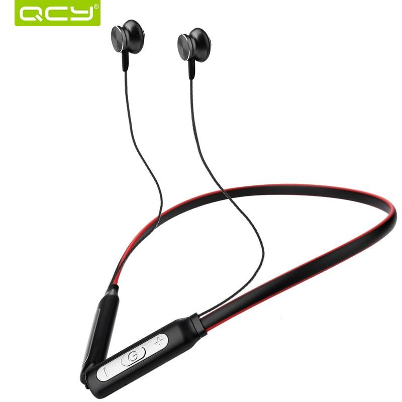QCY BH1 sans fil casque IPX5 étanche sport Bluetooth écouteurs tour de cou léger casque avec MICRO bruit annulation