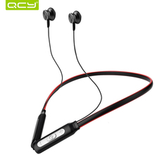 Discount! QCY BH1 wireless headphones IPX5 waterproof sports Bluetooth earphones lightweight neckband headset with MIC noise-cancellation