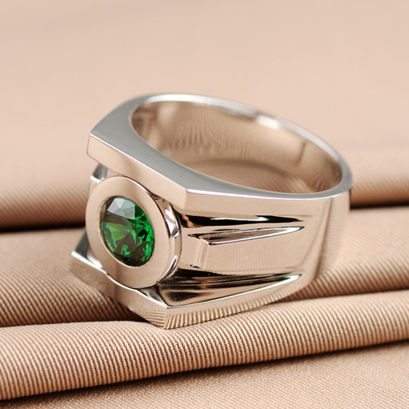 Top Quality Green Lantern Rings Men Superhero Real 925 Sterling Silver Ring Jewelry For Women Free Engraving Drop Ship In From Accessories