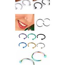 2pcs/Lot Women Stainless Steel Nostril Nose Hoop Stud Ring Clip On Nose Body Jewelry Fake Piercing Elegant Jewelry Gift(China)