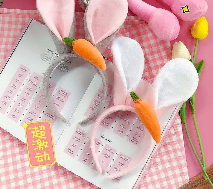 New arrival Fashion young girl's rabbit ears with carrot hairbands children bunny   headwear   hair accessories