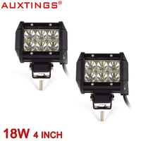 Auxtings 2pcs 4 Inch 18w 6000K High Power Spot Beam Wide Beam Led Work Light Offroad