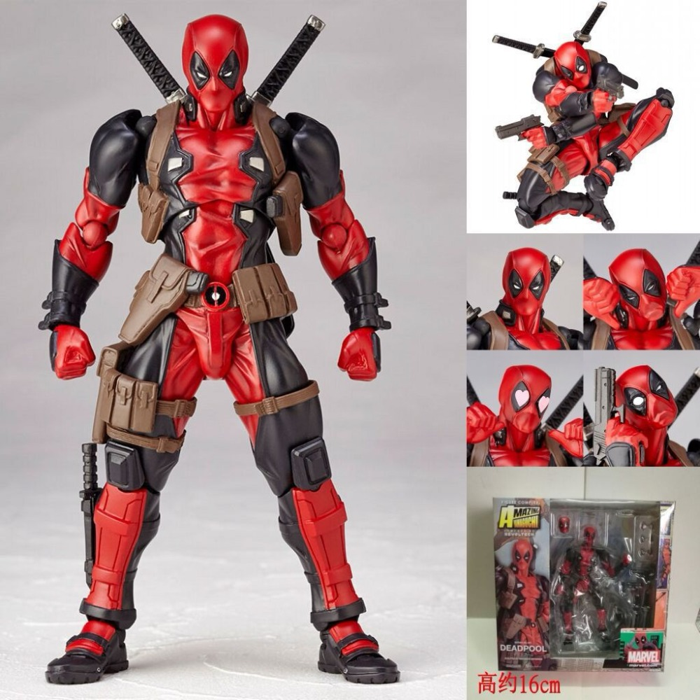 Deadpool Action Figures Superhero Figurines Kids Toys For Boys Children Anime Model Oyuncak 15CM