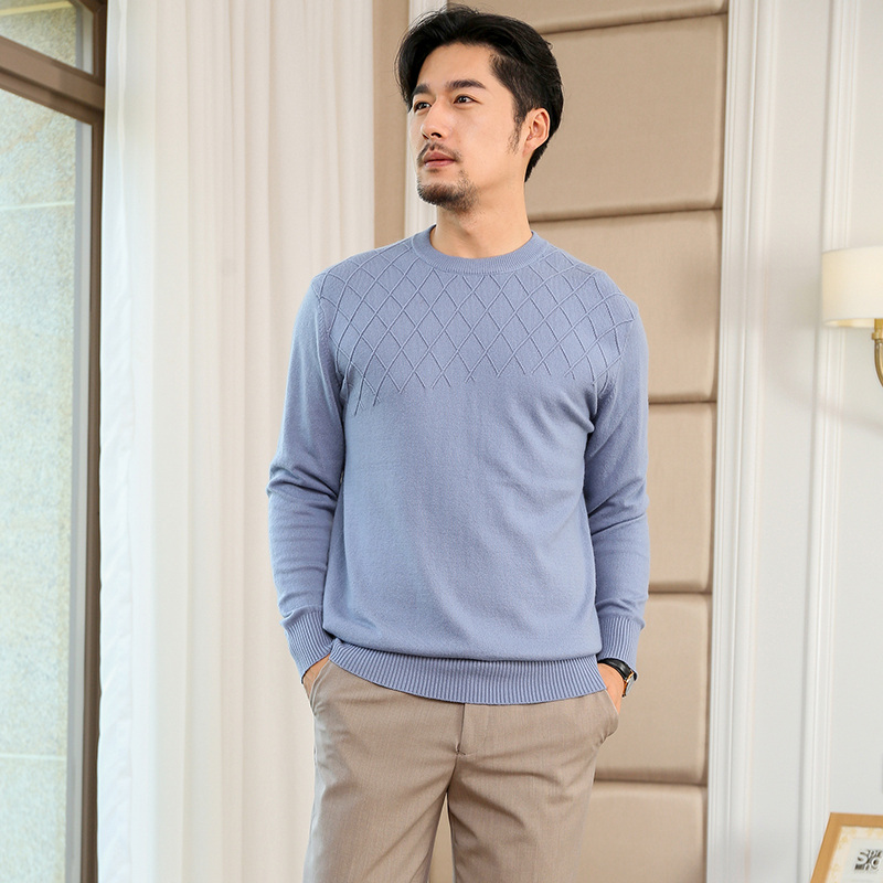 Man Sweater And Pullover 100% Cashmere And Wool Knitwear Oenck 6Colors Soft Men Jumpers Winter Fashion Male Woolen Clothes Tops