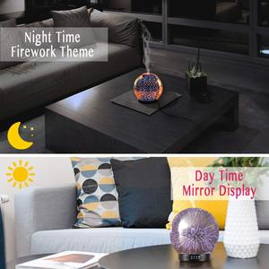 Image 5 - 7 LED Color Lighting Modes 3D Aromatherapy Essential Diffuser Fragrance Oil Humidifier Firework Theme Premium Ultrasonic Mist