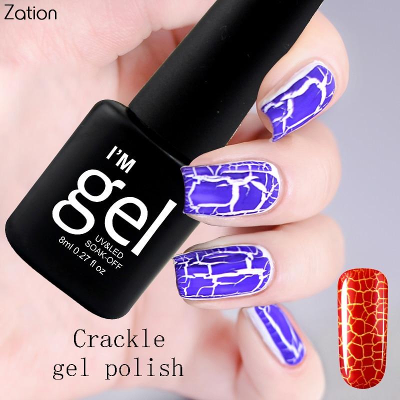 Zation Crack Nail Gel Varnish Crackle Nail Art Polish