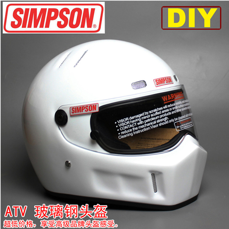 DIY CRG ATV-1 Personalized SIMPSON Sticker Motorcycle Racing Full Face Helmet F1 Capacete De Moto Riding Cascos Motorrad 2017 new knight protection gxt flip up motorcycle helmet g902 undrape face motorbike helmets made of abs and anti fogging lens