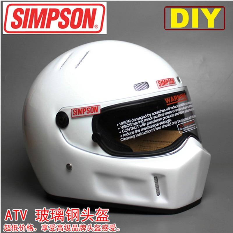 Поделки гоп АТВ-1 Персонализированные наклейки Симпсон гонки на мотоциклах полной стороны шлем capacete Cascos Мото езда Ф1-де-Моторрад